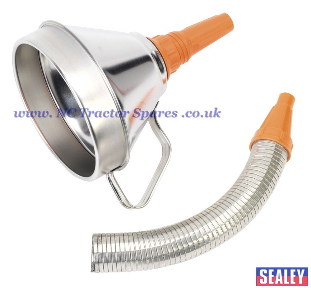 Funnel Metal with Flexible Spout & Filter 160mm